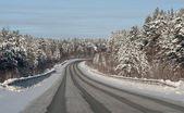 Wnter road — Stok fotoğraf