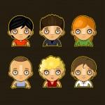 Cartoon child face icon — Stock Vector