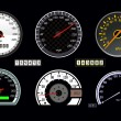 Stock Vector: Speedometer