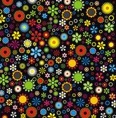 цветы шаблон — Cтоковый вектор