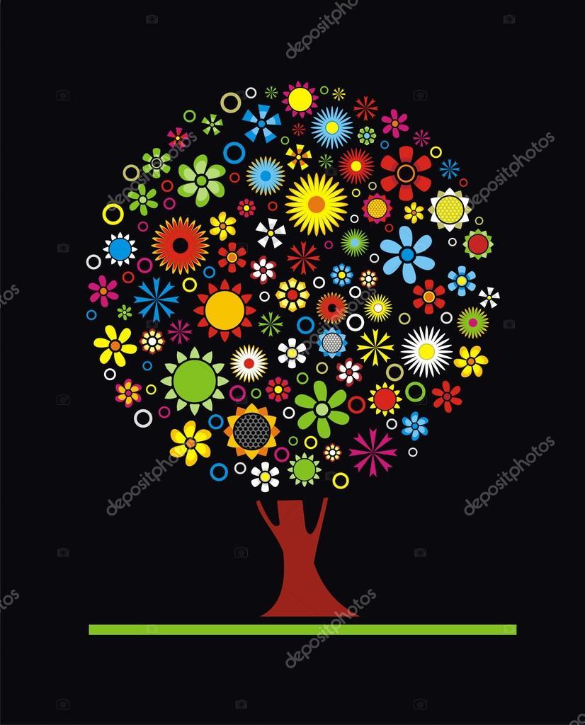 花树— 图库矢量图片 #25691727