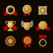 Achievement icons set — Stock Vector