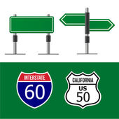 Road sign vorlage — Stockvektor