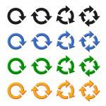 Four vector arrow rotation set — Stock Vector #31004249