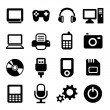 Multimedia gadget icons set — Stock Vector