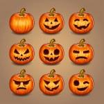 Halloween Pumpkins set. Vector. — Stock Vector