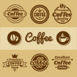 Coffee labels and badges. — Stock vektor