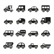 Cars icon set — Stock Vector