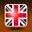 England flag ios icon style — Stock Vector