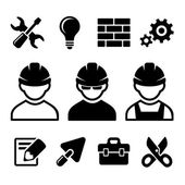 Industrial worker icons set — Vetorial Stock
