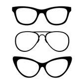 Set of classic glasses — Stock Vector
