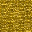 Yellow honeycomb vector background. — Stockvektor