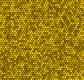 Yellow honeycomb vector background. — Stockvector