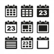 Calendar icons set. — Stock Vector