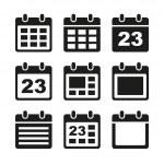 Calendar icons set. — Stock Vector