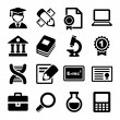 School and education icons set — Stock Vector