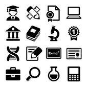 Conjunto de iconos de escuela y educación — Vector de stock