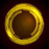 Technologie abstraite cercles vector background — Vecteur