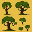 Tree vector set — Stock vektor