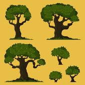 Drzewo wektor zestaw — Wektor stockowy