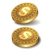 Dollars money coin — Vettoriale Stock