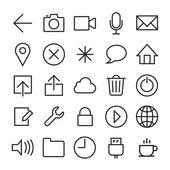 Ios 7 icons set — Vector de stock