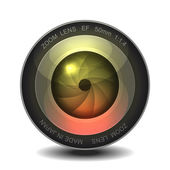Camera photo lens. — Vector de stock