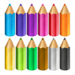 Stock Vector: Colour pencils