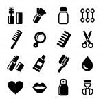 Cosmetics Perfume Icons Set — Stock Vector #35257799