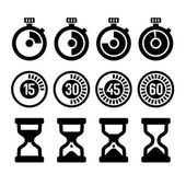 Timers icons set — Stock Vector