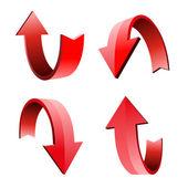 3d ok, vektör çizim seti — Stok Vektör