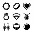 Jewelry Icons set — Stok Vektör #35429575