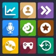 Multimedia flat icons set 6 — Stock Vector