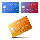 Realistic vector Credit Card — Stock Vector