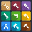 Working tools flat icon set 13 — Stock Vector