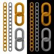 Seamless golden and silver chain. Vector. — Cтоковый вектор #35862561