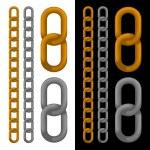 Seamless golden and silver chain. Vector. — Stock Vector #35862561