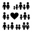 People Family icons set — Vettoriali Stock