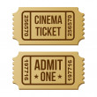 Retro cinema ticket. — Stock Vector