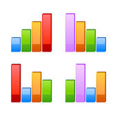 Business graph. Vector growth progress — Stock Vector