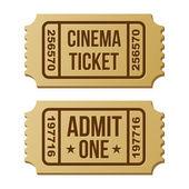 Retro cinema ticket. — Stock Vector