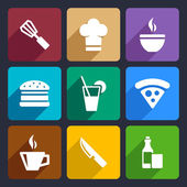 Kitchen flat icons set 23 — Stock Vector