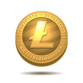 Litecoin isolated on white — Stock Vector