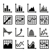 Business chart and graphics icons set — Stock Vector