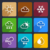 Weather flat icons set 27 — Stock Vector