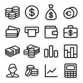 Money ios 7 icon set — Stock Vector