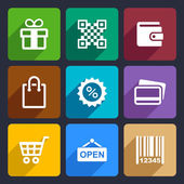 Shopping Flat Icons Set 35 — Vector de stock