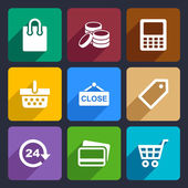 Shopping Flat Icons Set 36 — Stock Vector