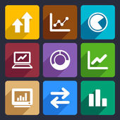 Business Infographic flat icons set 34 — Wektor stockowy