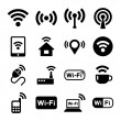 Wireless technology, Wi-Fi web icons set. — Stock Vector